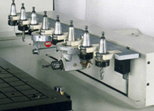 8-position rack-type tool magazine