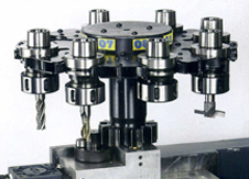 8-position tool magazine integrated with carriage side (X-axis)