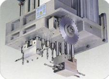 Built-in saw in X-axis