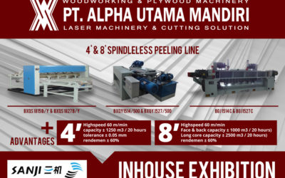 Inhouse Exhibition 4′ & 8′ Spindleless Peeling Line