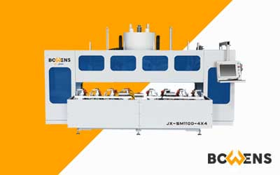 JX-SM1100 & JX-ZX1000 4×4 Double Station Tenon & Mortise Machining Center